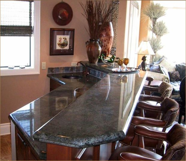 Granite countertops have many different edge styles for Bar style countertop